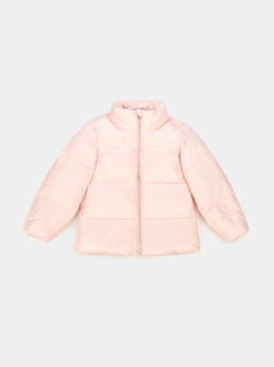Down jacket in pink color - 1