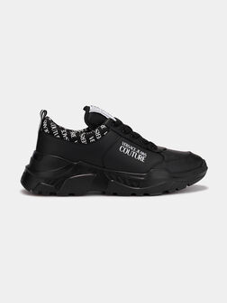 Black sneakers with logo - 1