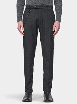 Слим панталон KERR с верижка - 1