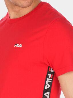 TALAN Red T-shirt with logo branding - 4