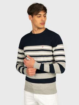 Пуловер с принт райе - 1