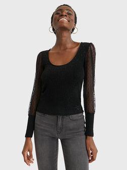 Блуза с бляскави нишки IVETTE - 1