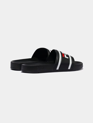 MORRO BAY Black slippers with logo - 3