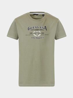 Тениска в зелен цвят  - 1