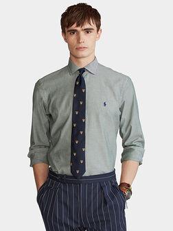 Green cotton shirt - 1