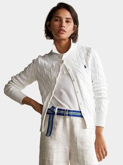White cardigan - 1