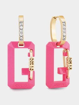 Earrings with contrasting logo detail - 1