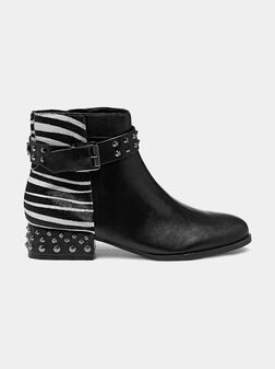 AELANIN Leather ankle boots with zebra print - 1