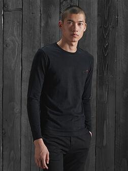 Черна блуза с лого детайл - 1