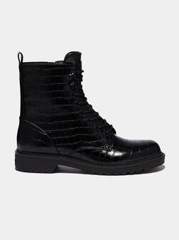 TALISI Combat boots with crocodile print - 1