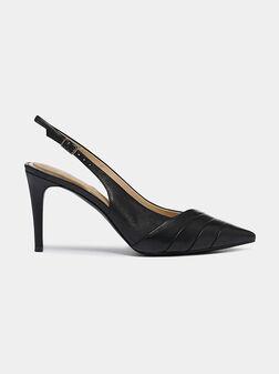 Genuine leather stilleto shoes - 1