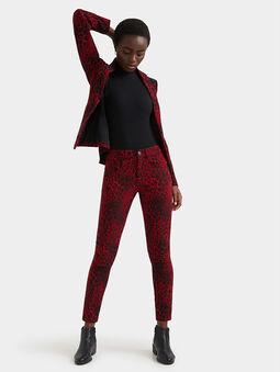 Animal print slim trousers - 5