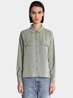 Риза от лиосел в зелен цвят - 1
