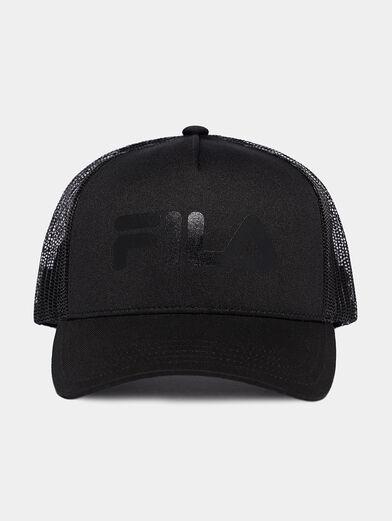 Black cap with logo print - 1