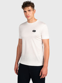 Бяла тениска с лого  - 1
