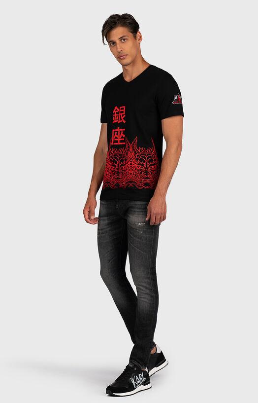 Тениска в черен цвят с принт - 2