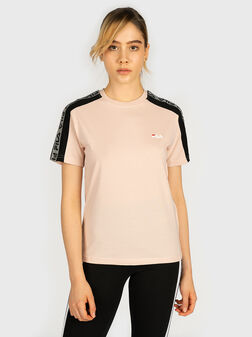 TAMSIN T-shirt with contrasting logo print - 1