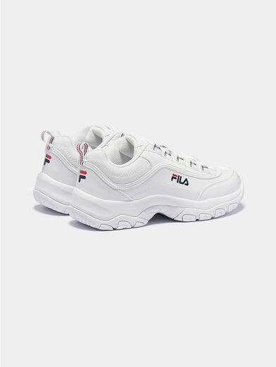 STRADA F White sneakers with glossy finish - 3