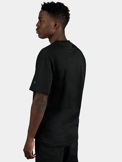 Black cotton T-shirt - 3