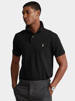 Black polo-shirt - 1