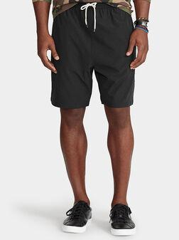 Черни плажни шорти - 1