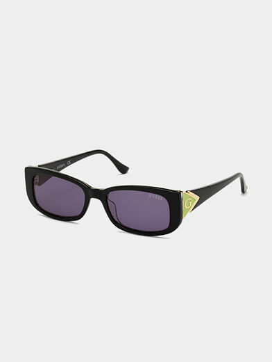Sun glasses with black frames and logo detail - 1