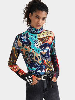 Пуловер BRUSELAS с етно мотиви - 1