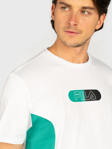 T-shirt with contrasting logo print - 3