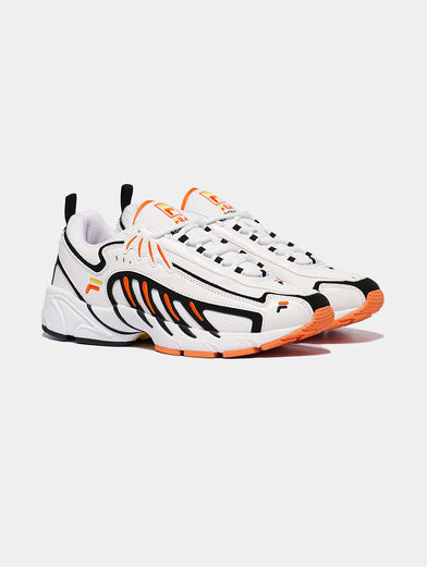 ADRENALINE White runners with orange details - 3