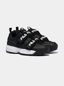 DISRUPTOR STRAPS Black sneakers with contrasting logo print  - 5