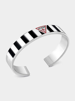 Bangle with enamelled panel and logo - 1