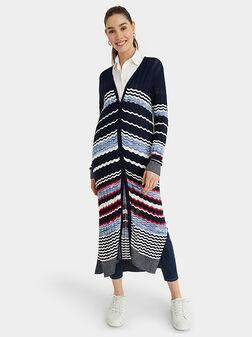 Long striped cardigan - 1