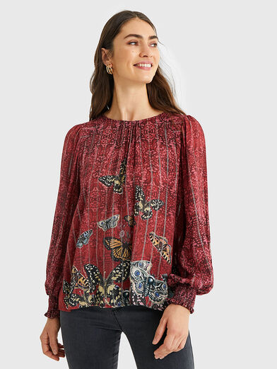 BUTTERFLY Blouse with puff sleeves - 1