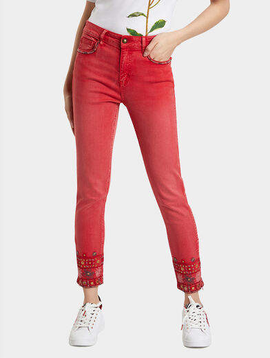 DELFOS Pant with ethno embroidery - 1