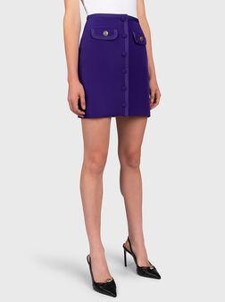 Stretch twill mini skirt - 1