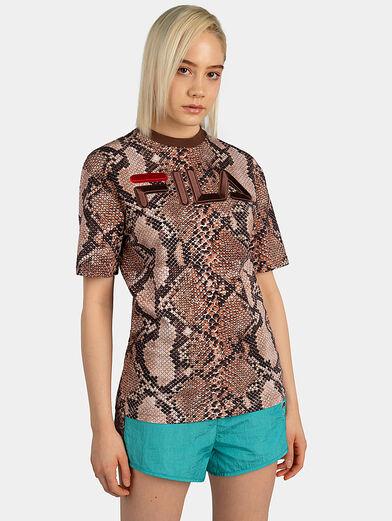NERO T-shirt with snakeskin print - 2