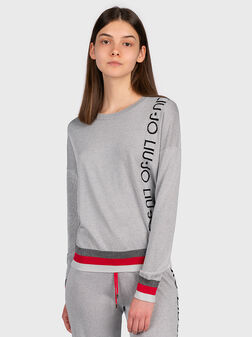Sweater with contrasting logo branding - 1