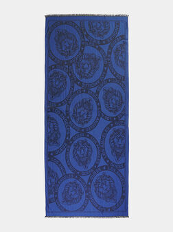 LION Printed scarf with logo - 1