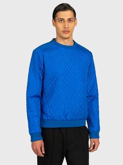 Синя блуза с цип отстрани - 1