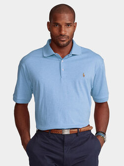 Blue polo-shirt with logo - 1