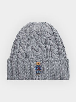 Плетена шапка с Polo Bear бродерия - 1