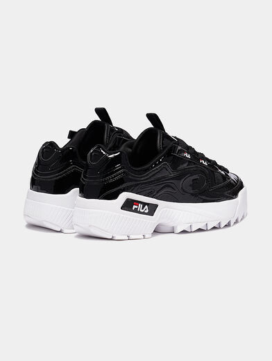 D-FORMATION Patent look sneakers - 3