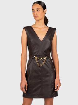 Black V-neck dress - 1