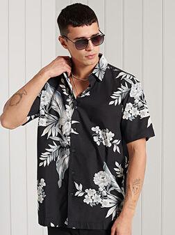 Риза с хавайски принт - 1