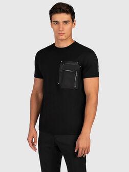 Black cotton t-shirt - 1
