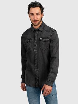 Denim shirt in black - 1