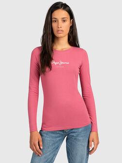 Блуза с контрастен принт VIRGINIA - 1