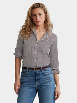 Памучна раирана риза - 1