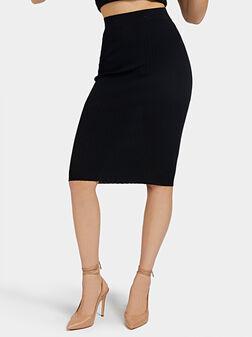 ADA Ribbed knit skirt in black color - 1
