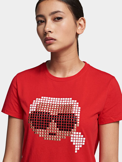 Cotton T-shirt with pixelated logo - 2